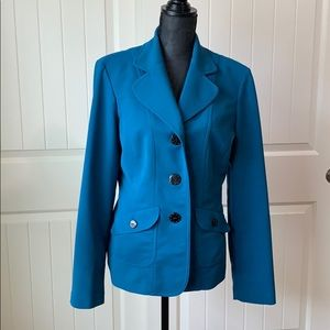 Studio I Tall Teal 3 Button Up Blazer
